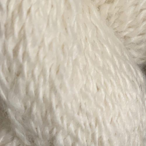 Levi White Alpaca Yarn in 2 Ply Sport