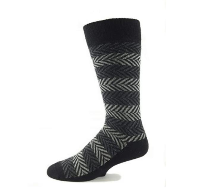 EA Black Herringbone Socks