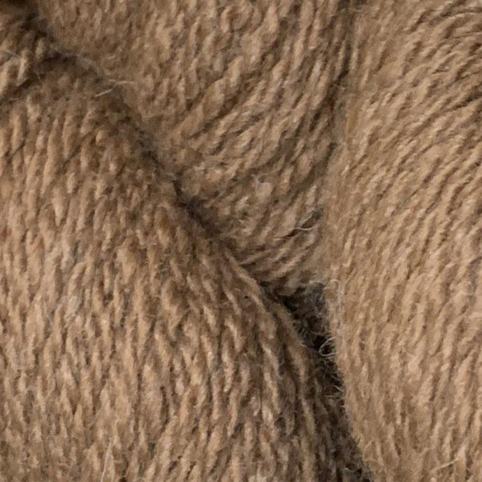 Daredevil Light Brown Alpaca Yarn in 2 Ply Worsted