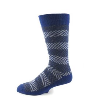 EA Blue Herringbone Dress Socks