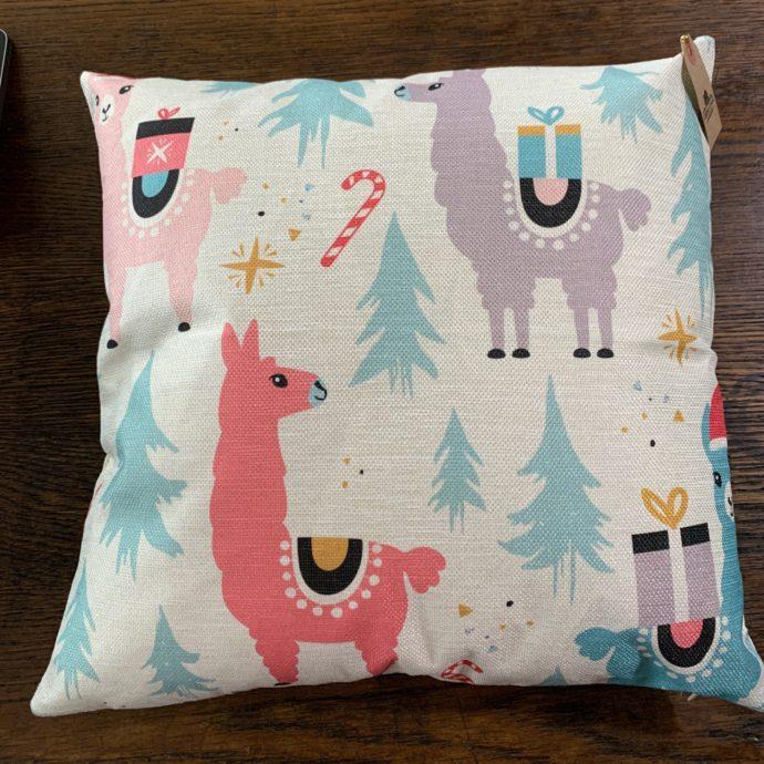Pastel Alpaca Pillows - Christmas Scene