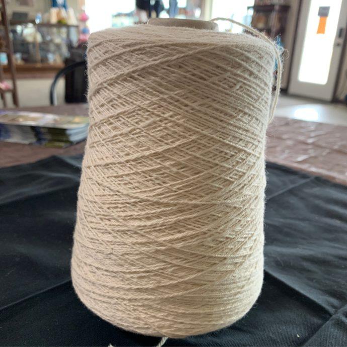 White Alpaca Sport Yarn Cone