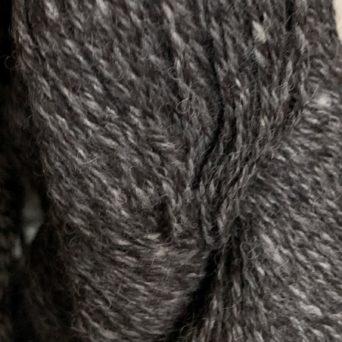 100% Alpaca Yarn in Silver Grey and Black Tweed