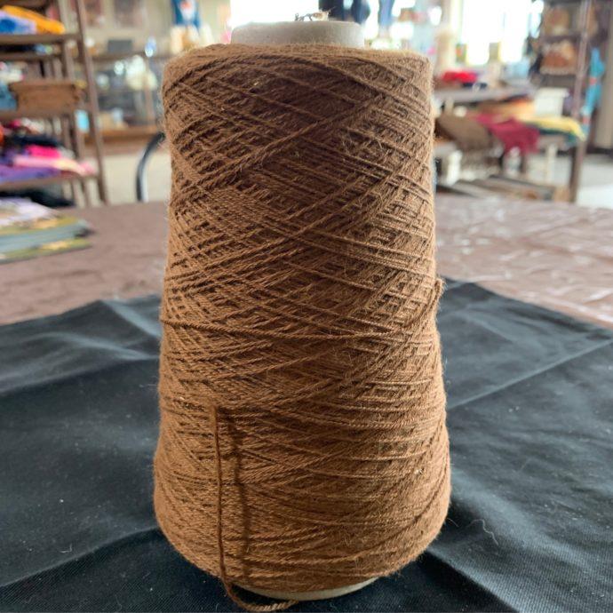 Grade 1 Dark Fawn Fingering Alpaca Yarn Cone