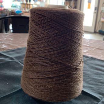 Grade 2 Brown Fingering Alpaca Yarn Cone 3000 yard 3 Ply