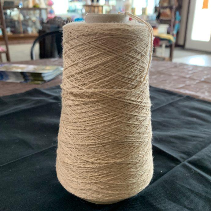 Grade 1 Beige Fingering Alpaca Yarn Cone 1600 Yards 3 Ply