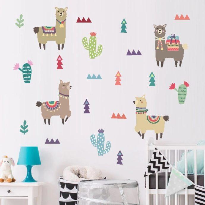 Alpaca Wall Stickers - Set