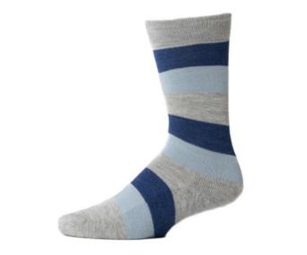 EA Blue Stripe Crew Sock