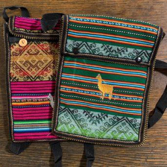 Tablet Bag With Llamas - Tall
