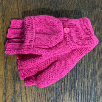 Pink Glittens Made from 100% Alpaca