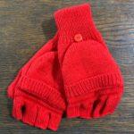 Red Glittens Made from 100% Alpaca