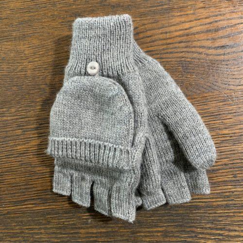 Grey Glittens Made from 100% Alpaca