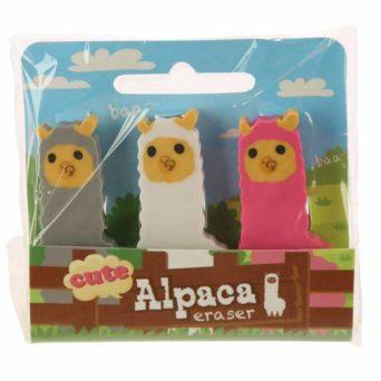 Alpaca Erasers - Set of 3