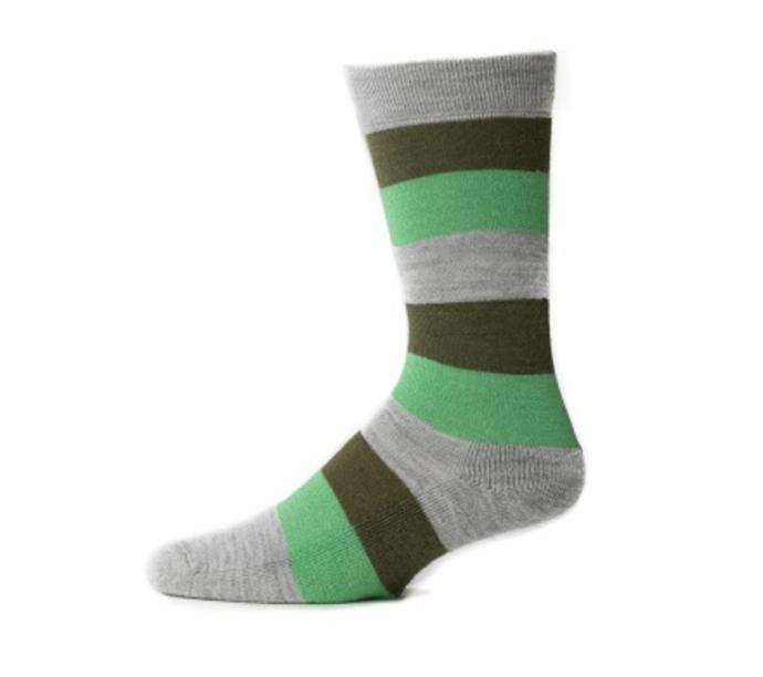 EA Green Stripe Crew Socks
