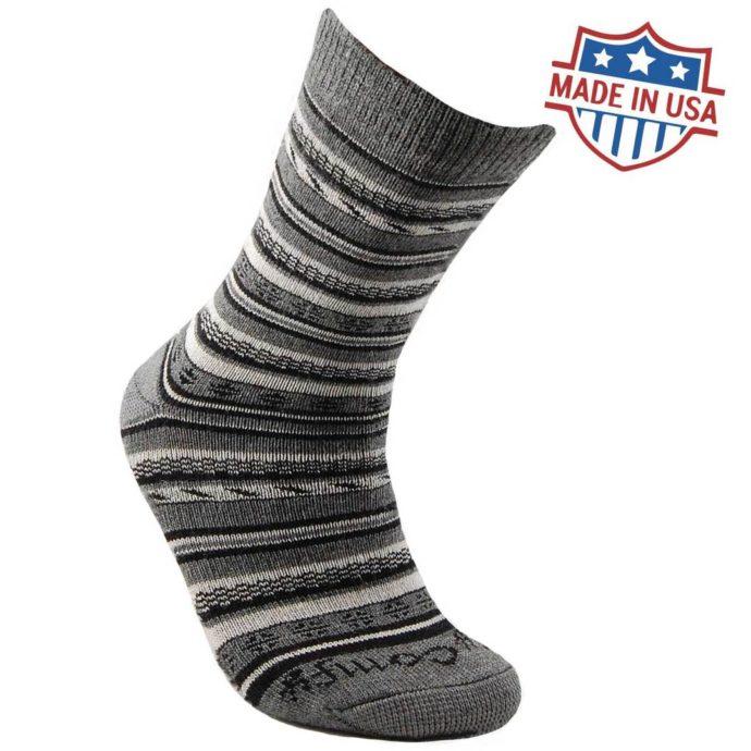 My Comfy Black/Grey Dress Sock - Large LC213