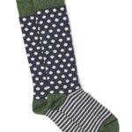 Warrior Dots and Stripes Socks in Baby Alpaca and Bamboo - Medium