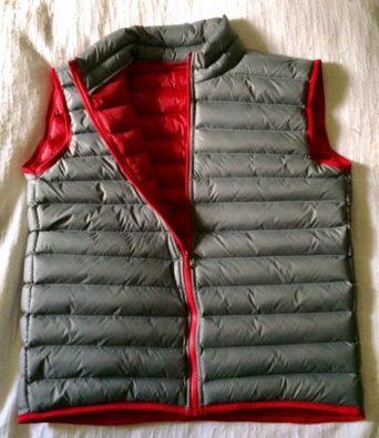Paca Performance Gear Grey Vest With 100% Alpaca Cloud Fiber Fill