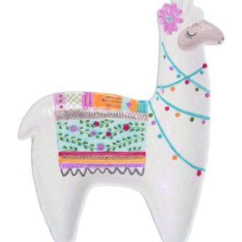 Colorful Llama Platter