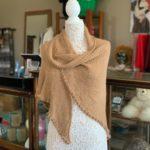 Woven Rose Grey Alpaca Shawl in 100% Alpaca