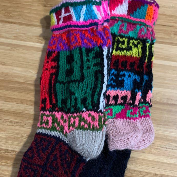 Kids Multicolor Alpaca Socks