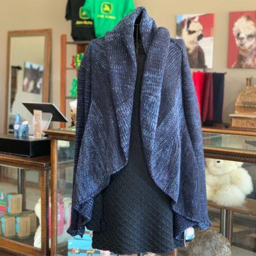 Chloe Striped Baby Alpaca Sweater - Blue Medium