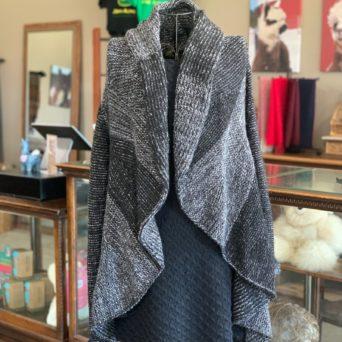 Chloe Striped Baby Alpaca Sweater - Black Small