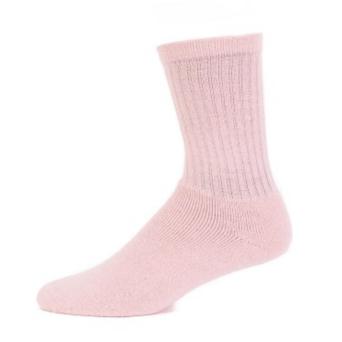 EA Pink Alpaca Crew Socks - Medium