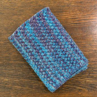 Blue Infinity Scarf in 100% Baby Alpaca