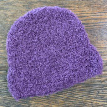 Purple Boucle Hat