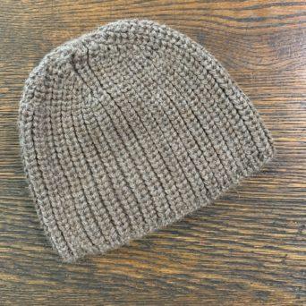 Alpaca Knit Beanie in Cocoa Color
