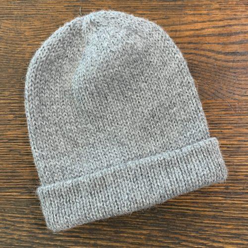 Fisherman Knit Hat in 100% Alpaca