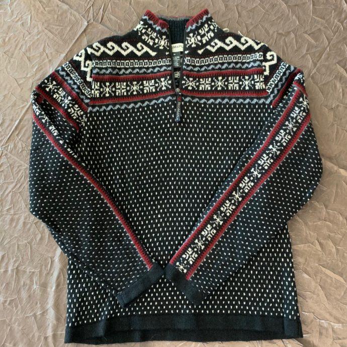 Caraz Half Zip Sweater Black and Red - XL
