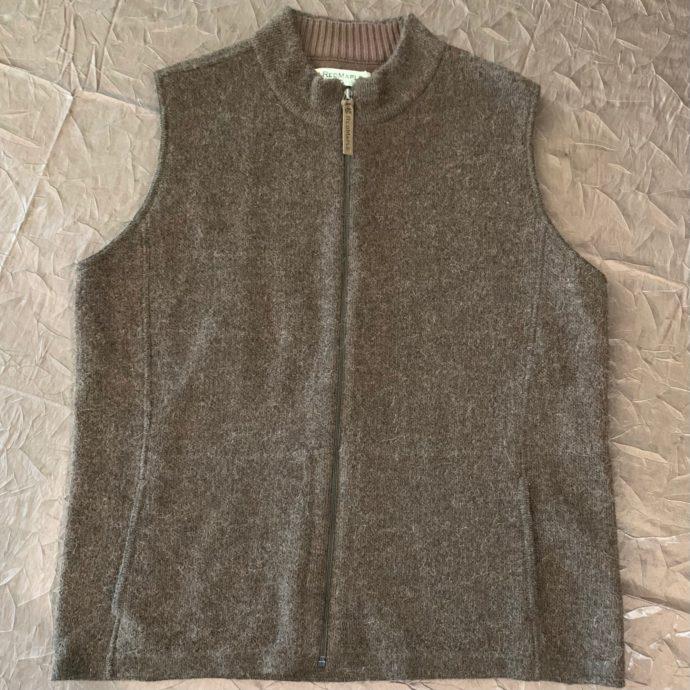Tobacco Brown Zip Sweater Vest - Women's XL