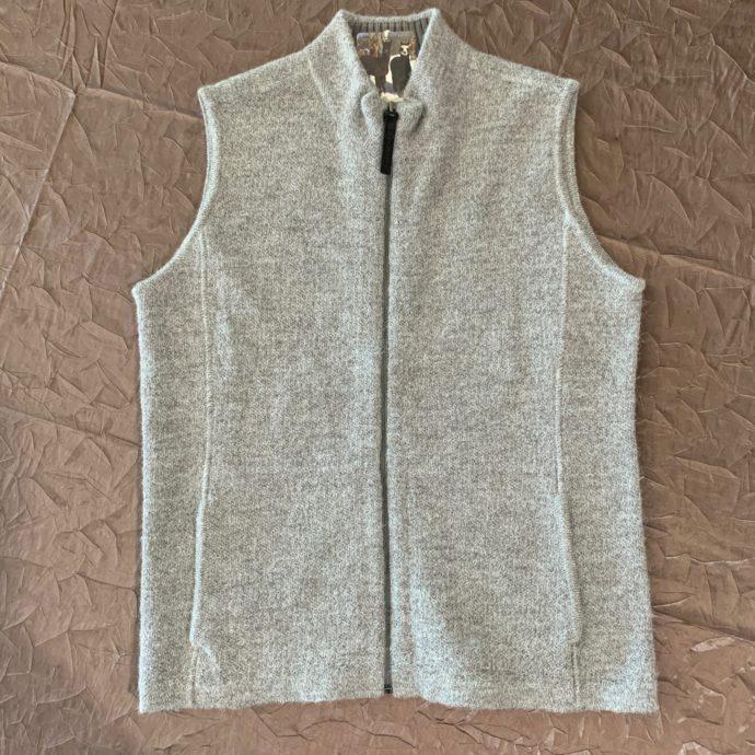 Grey Zip Sweater Vest - Women's Medium