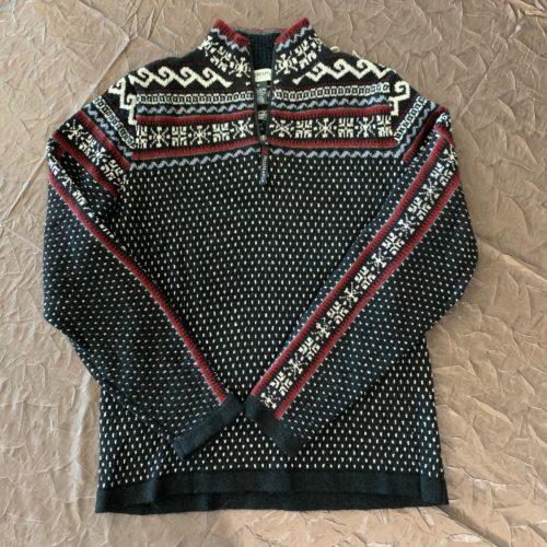Caraz Half-Zip Sweater Black and Red
