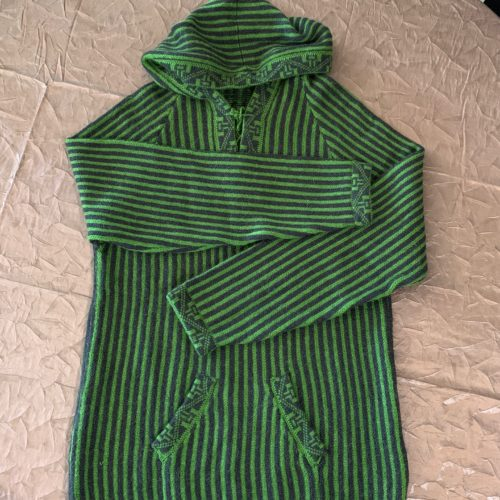 Peruvian Stripes Sweater With Hood