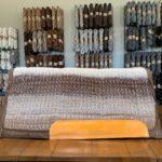 32x32 Saddle Pad in Brown Mix Alpaca Fiber