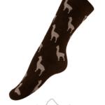 CA Alpaquita Unisex Socks in Brown Heather and Beige