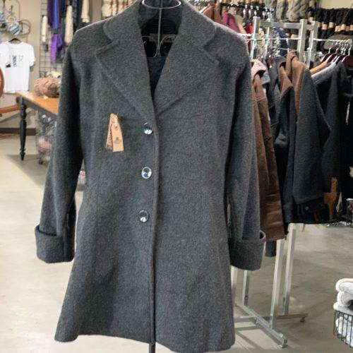 Alpaca Blend Duchess Coat in Grey