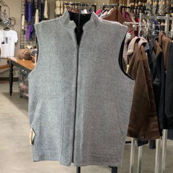 Reversible Sport Vest in Black and Grey
