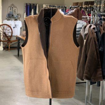 Reversible Sport Vest in Dark and Light Brown