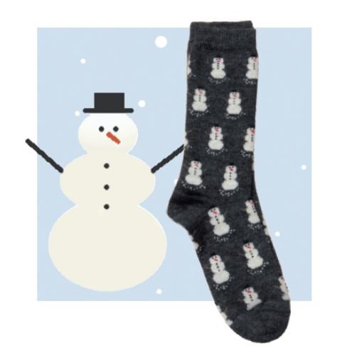RM Snowman Alpaca Socks
