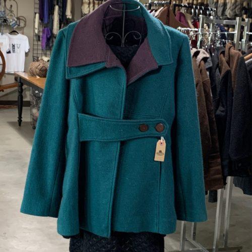 Handwoven Waverly Alpaca Coat in Large