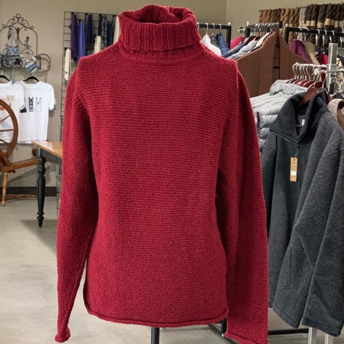 Merlot Garter Turtle Neck Sweater