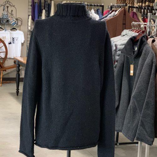 Black Garter Turtle Neck Sweater