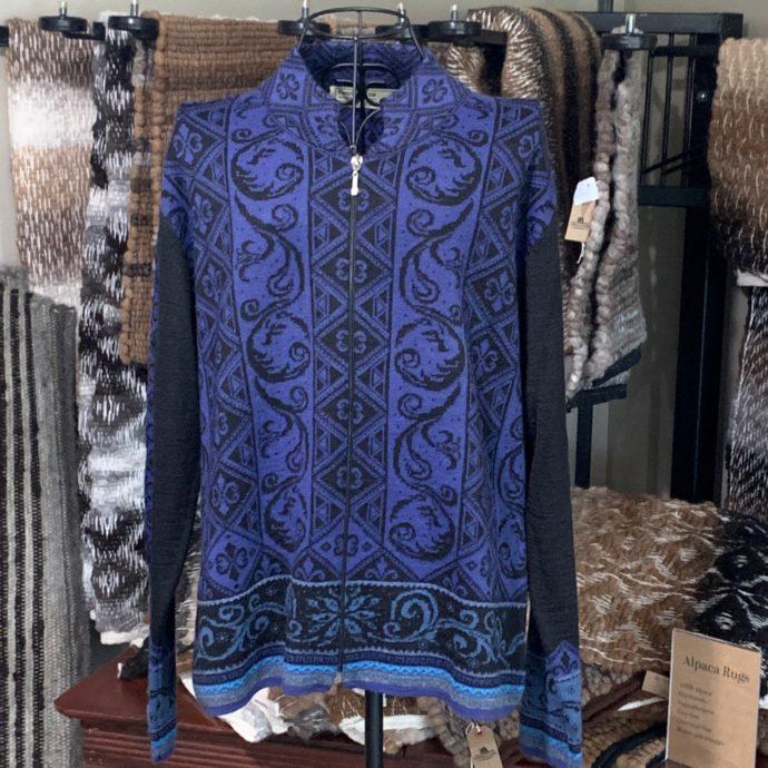 Sapphire Zipper Cardigan Sweater