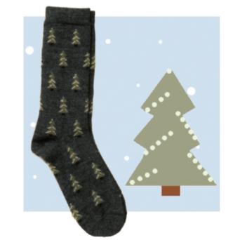 RM Christmas Tree Alpaca Socks