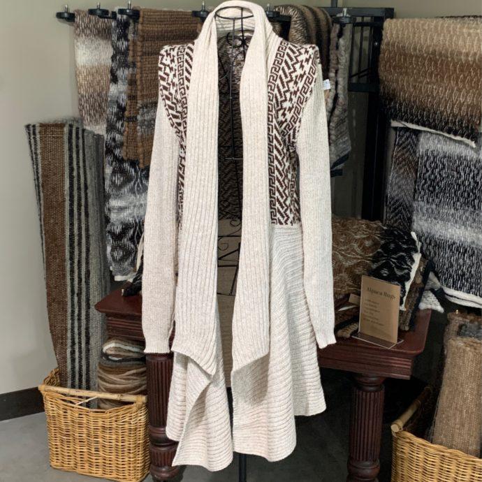 Long Alpaca Sweater With Design