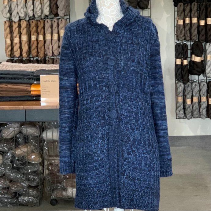 Sensations Hooded Sweater in Blue