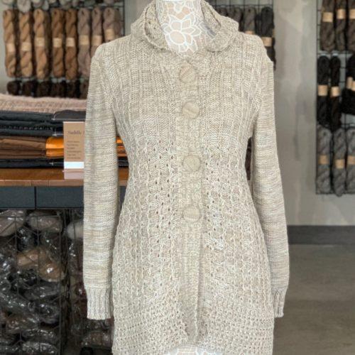 Sensations Hooded Alpaca Blend Sweater in Oatmeal